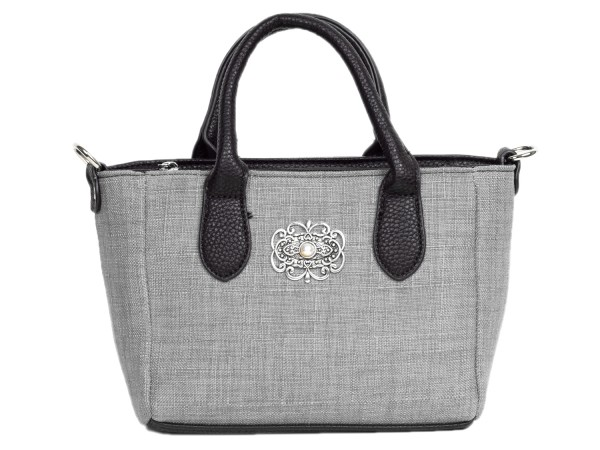 Tasche mit Henkel textil grau