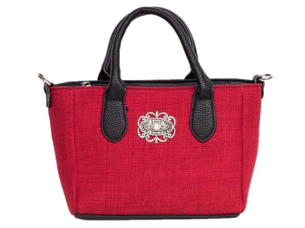 Tasche mit Henkel textil rot