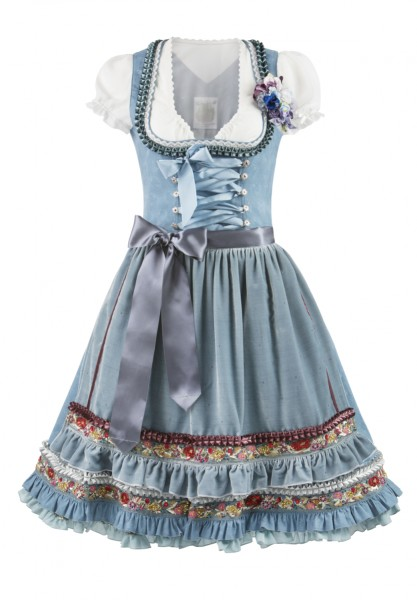 Dirndl Belle rauchblau by Lola Paltinger Couture