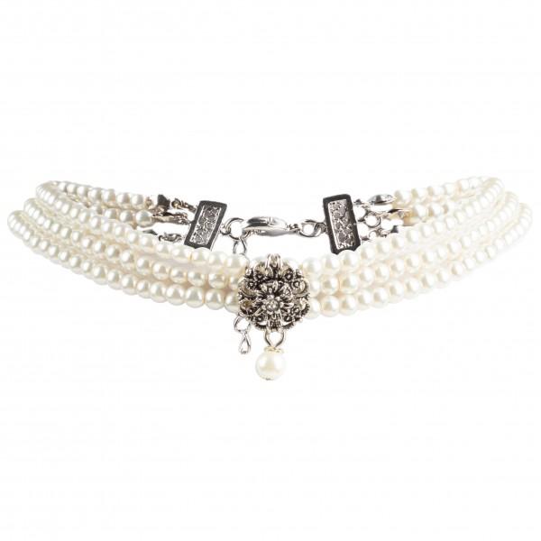 Kropfkette Perlen 3-fach Band