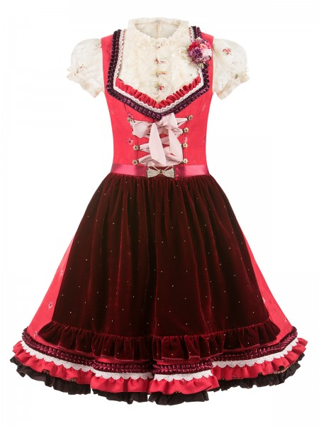 Dirndl Tiffany rot-bordeaux by Lola Paltinger Couture
