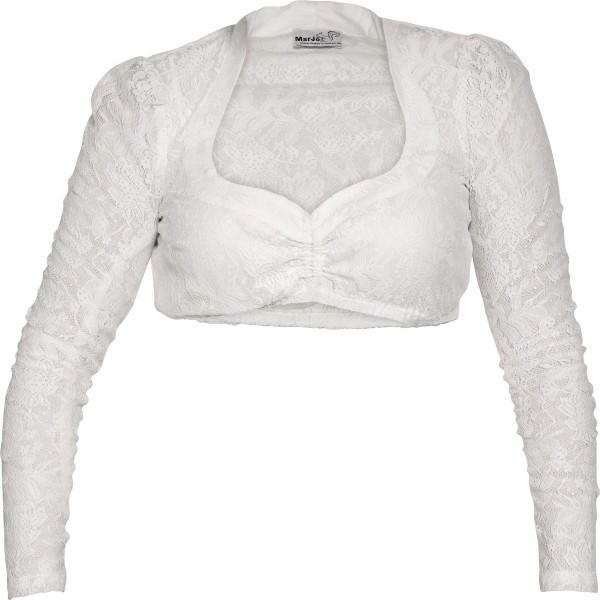 Dirndlbluse Becca-Celina weiß langarm