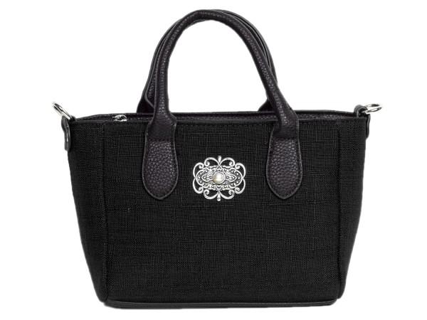 Tasche mit Henkel textil schwarz