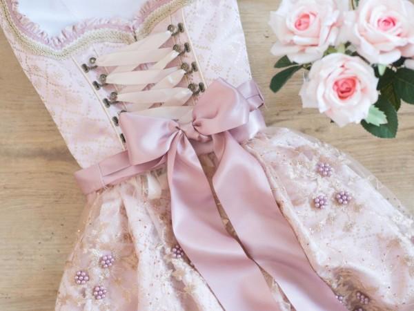 Dirndl Rosalia 44556 44555 creme rose 2 Längen